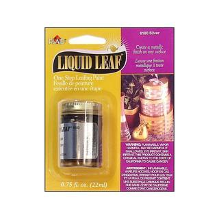 Plaid Liquid Leaf 3/4oz Carded Silver