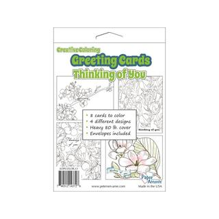 Creative Coloring Card&Env 4.25x5.5 8pc Thnkng/You