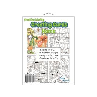 Creative Coloring Card&Env 4.25x5.5 8pc Home