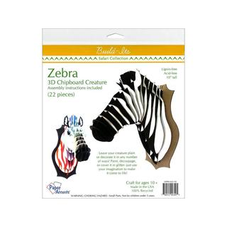 Paper Accents Build-Its 10-inch Chipboard Zebra