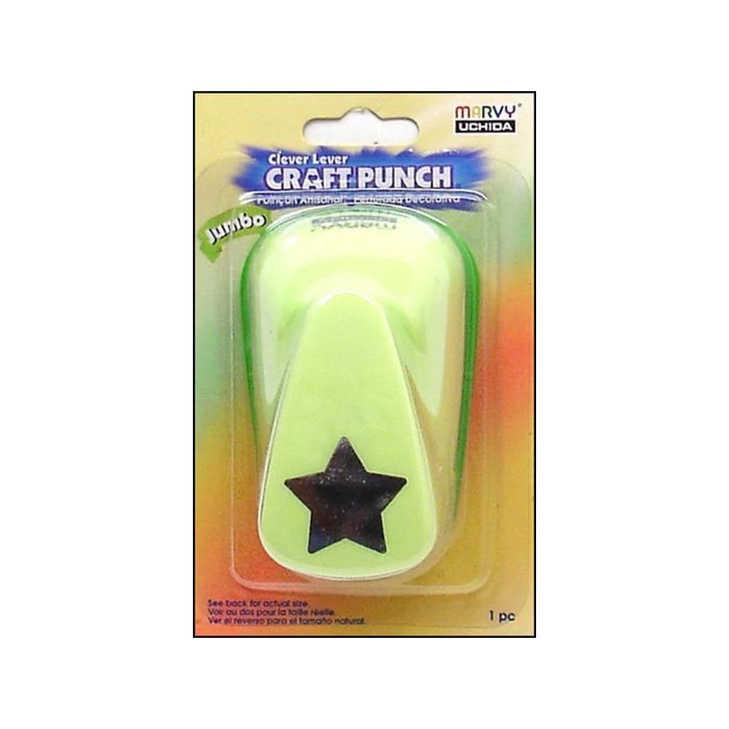 Uchida Lever Handle Jumbo Star Punch (CleverLeverJumboPun...