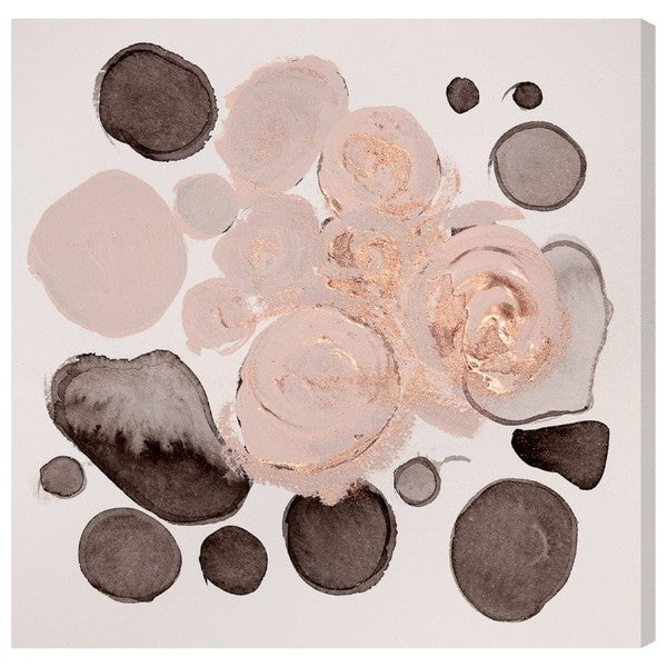 Oliver Gal 'Winter Roses' Canvas Art - Brown