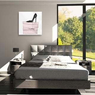 Oliver Gal 'The One Stiletto' Canvas Art - Pink