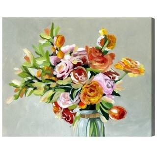 Oliver Gal 'Sun Dance' Floral and Botanical Wall Art Canvas Print - Green, Orange
