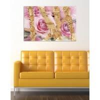 Oliver Gal 'Rose Garden ' Canvas Art - Pink