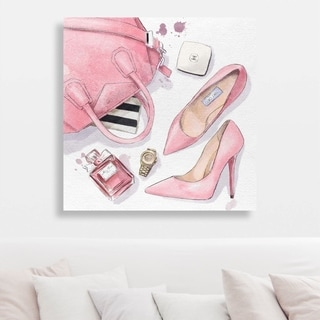 Oliver Gal 'NYC for the Weekend' Canvas Art - Pink