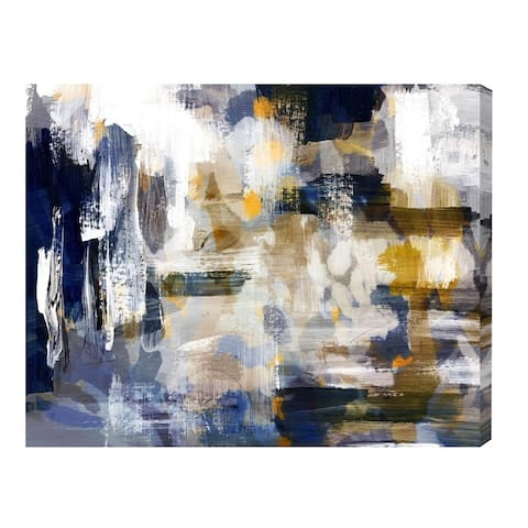 Oliver Gal 'Nadando' Abstract Wall Art Canvas Print - Blue, White