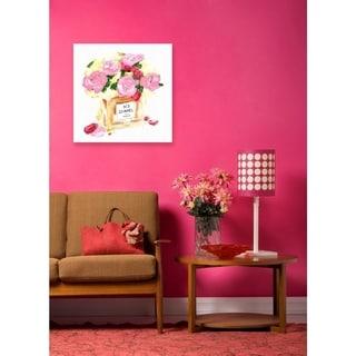 Oliver Gal 'N3 Vase' Canvas Art - Pink