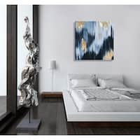 Oliver Gal 'Gold Blue Fall' Abstract Gallery Wrapped Canvas Art