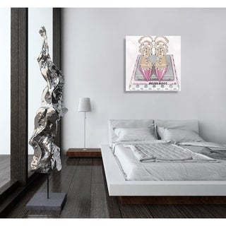 Oliver Gal 'Girl Power Books Silver' Canvas Art - Silver