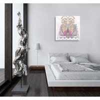 Oliver Gal 'Girl Power Books Silver' Fashion and Glam Gallery Wrapped Canvas Art - pink, gray
