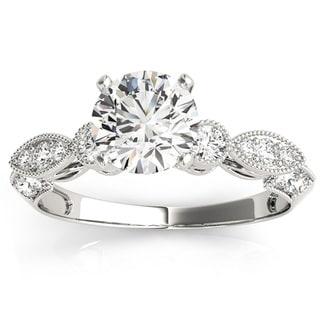Transcendent Brilliance Victorian Style Diamond Engagement Ring 14k Gold 7/8 TDW
