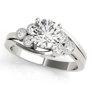 Transcendent Brilliance Vintage Inspired Diamond Engagement Ring 14k Gold 1 1/10 TDW