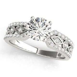 Transcendent Brilliance Split Diamond Band Engagement Ring 14k Gold 1 1/10 TDW