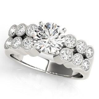 Transcendent Brilliance Bezel Style Diamond Engagement Ring 14k Gold 1 1/4 TDW