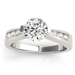 Transcendent Brilliance Graduated Tapered Shank And Channel Set Diamonds Engagement Ring 14k Gold 7/8 TDW