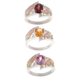 Black Hills Gold and Sterling Silver Gemstone Ring|https://ak1.ostkcdn.com/images/products/1484436/P1134078.jpg?impolicy=medium