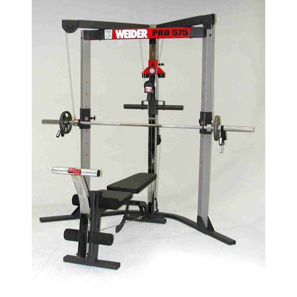 Shop Weider Pro 575 Weight Lifting System Overstock 1485739