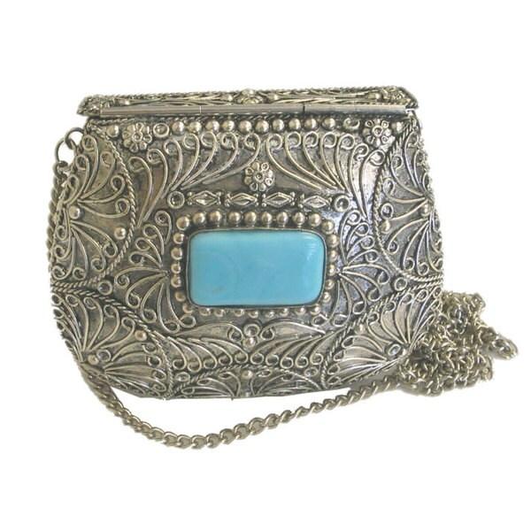 Agate Inlaid Handbag (India)
