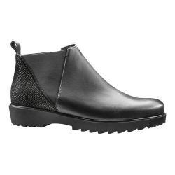 Women's ara Mina 41560 Chelsea Bootie Black Leather/Suede
