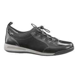 Women's ara Rae 44419 Sneaker Black Calf/Nubuck/Crinkle Patent Combo