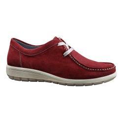 Women's ara Trista 49806 Moc Toe Sneaker Burgundy Suede