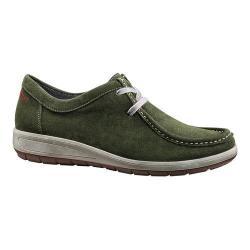 Women's ara Trista 49806 Moc Toe Sneaker Olive Suede