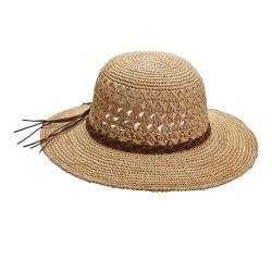Women's Callanan CR269 Crocheted Sun Hat Natural
