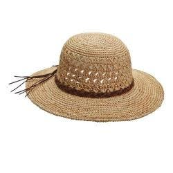 Women's Callanan CR269 Crocheted Sun Hat Natural|https://ak1.ostkcdn.com/images/products/149/905/P20495123.jpg?impolicy=medium