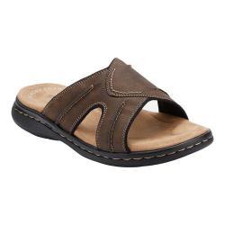 Men's Dockers Sunland Slide Dark Brown Synthetic