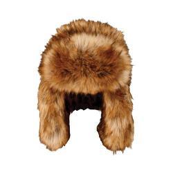 Women's San Diego Hat Company Oversized Faux Fur Trapper FFH6794 Tan