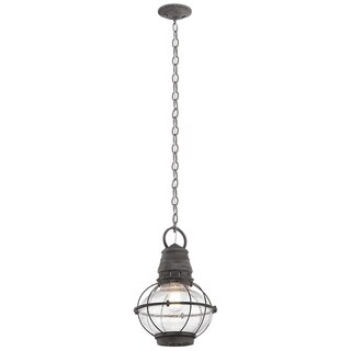 Kichler Lighting Bridge Point Collection 1-light Weathered Zinc Outdoor Pendant