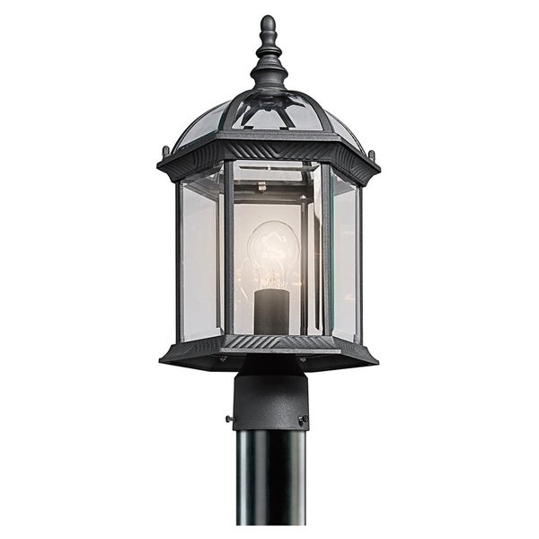Kichler Lighting Barrie Collection 1-light Black Outdoor LED Post Mount