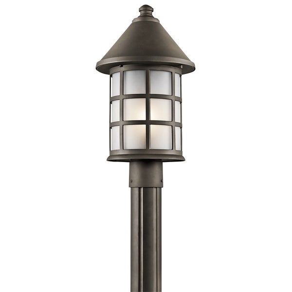 Kichler Lighting Town Light Collection 1-light Olde Bronze Outdoor Post Mount