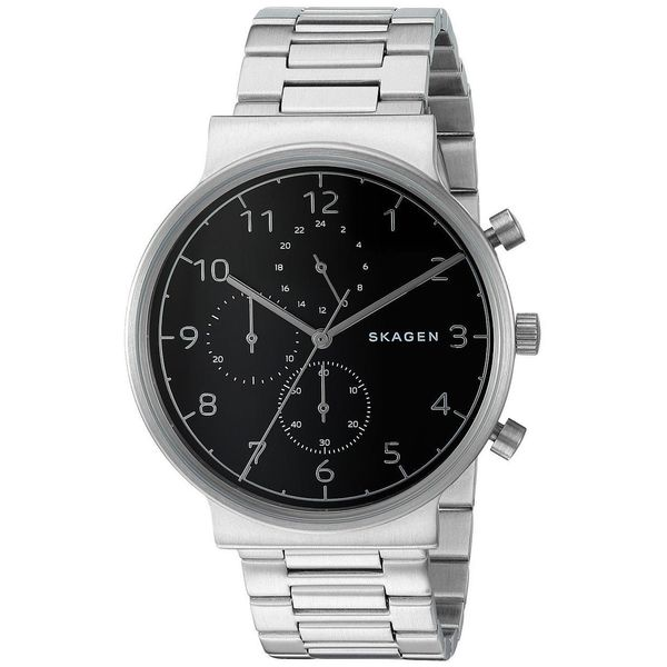 57ff218fe Shop Skagen Men's SKW6360 'Ancher' Chronograph Stainless Steel Watch - Free  Shipping Today - Overstock - 14946489