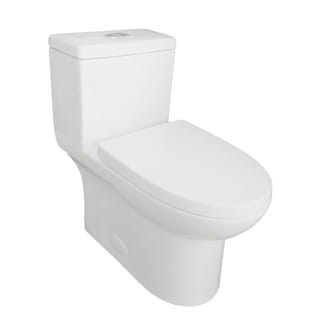 Eviva Standy® Elongated Cotton White One Piece Toilet