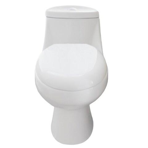 Eviva Sleek® Elongated Cotton White One Piece Toilet