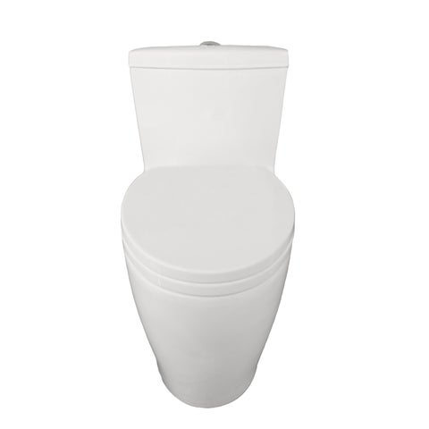 Eviva Softy® Elongated Cotton White One Piece Toilet