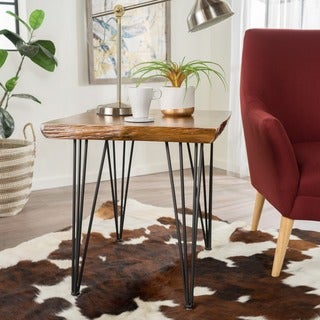 Remington Natural Wood Live Edge End Table by Christopher Knight Home