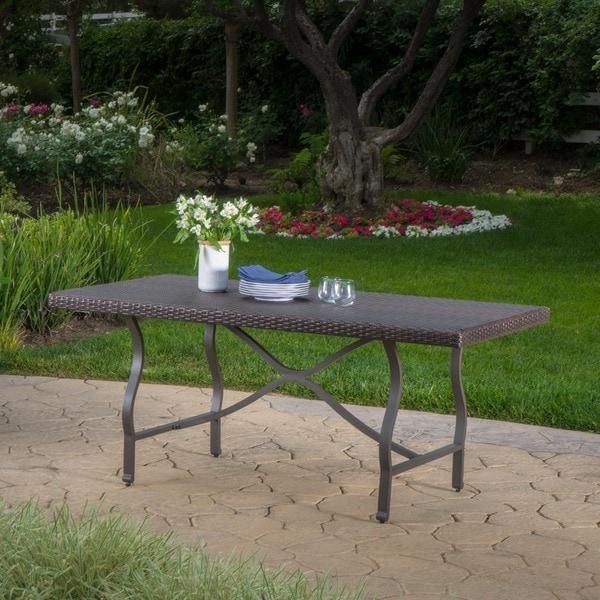 Outdoor Patio Furniture Mesa Az: Shop Costa Mesa Outdoor Wicker Dining Table By Christopher