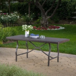 Costa Mesa Outdoor Wicker Dining Table by Christopher Knight Home