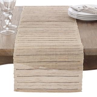 Nubby Texture Stripe Design Woven Table Runner