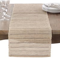Nubby Texture Stripe Design Woven Table Runner
