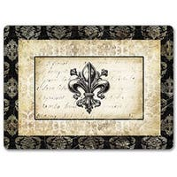 CounterArt Fleur deLis Damask Hardboard Placemat, Set of 2