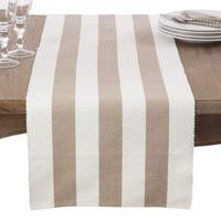 Classic Stripe Design Ribbed Cotton Table Runner