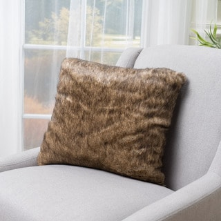 Christopher Knight Home Annalise Faux Fur Square 18-inch Throw Pillow