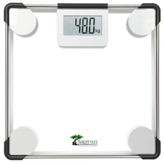 Link to ToiletTree Clear Glass Precision Digital Bathroom Scale Similar Items in Weight Management