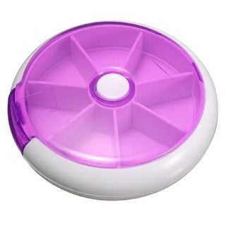 Plastic Portable 7-slot Pill Organizer