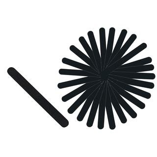 Rucci Black with Foam Nail File 100/180 Grit (Pack of 30)