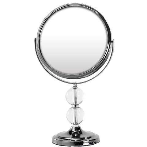 Rucci 1x/10x Gun Metal Vanity Mirror